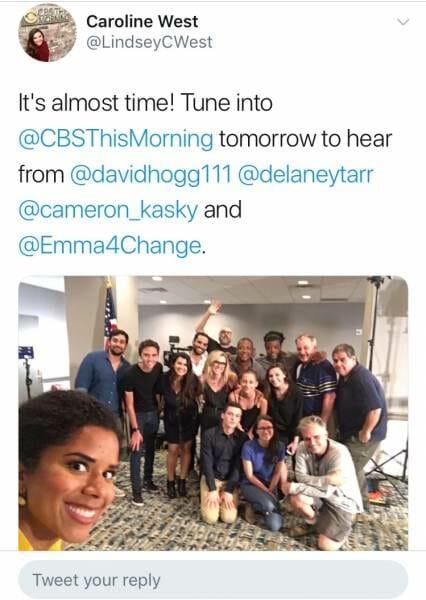 Overlevenden bloedbad Florida en CBS-verslaggeefster hebben de grootste lol. Wat klopt hier niet?