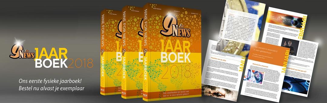 Exclusief verkrijgbaar: het NineForNews Jaarboek 2018. Bestel alvast je exemplaar