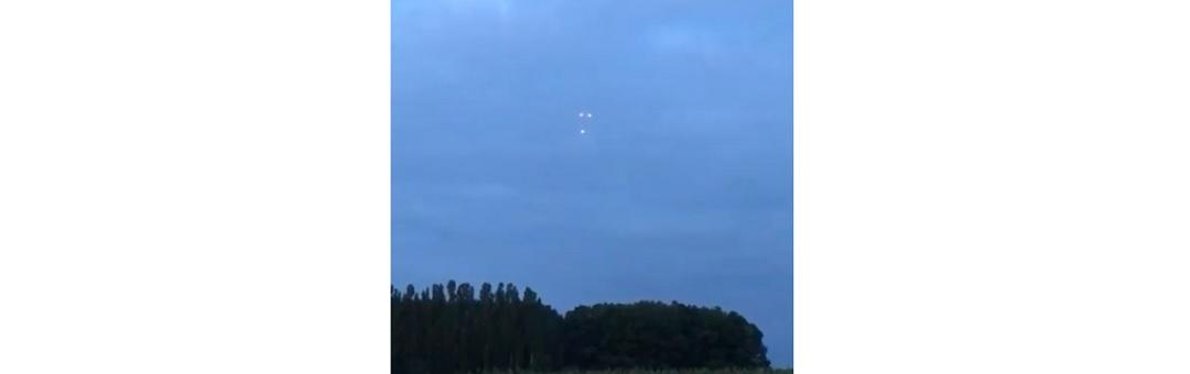 3 mysterieuze lichtbollen verschenen boven graanveld in België. Check hier de beelden