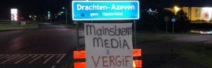 Friesland vol met spandoeken tegen coronamaatregelen: 'Media = vergif'